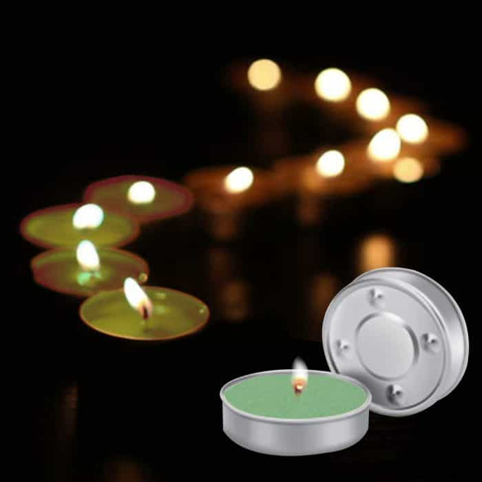 Ripp Unscented Wax Tealights Candles Smokeless Candles Burning time Approx 2.5 Hour (Green, Pack of 100)