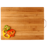 HOKIPO® Bamboo Chopping Board with Handle -Extra Large - 40 x 30 x 1.8 cm