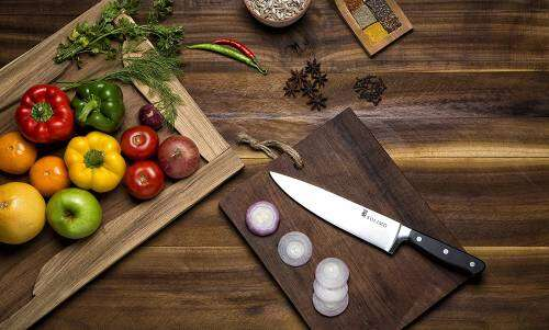 Amazon Brand - Solimo Premium Stainless Steel Chef's Knife, Silver