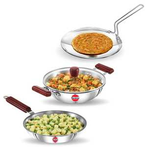 Hawkins 3-pc Tri-Ply Stainless Steel Cookware Set (SSET2)