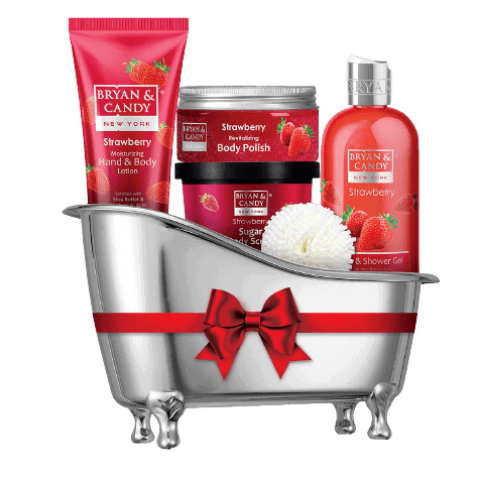 Bryan___Candy_New_York_Strawberry_Bath_Tub_Kit_for_Complete_Home_Spa_Experience__Shower_Gel__Hand___Body_Lotion__Sugar_Scrub__Body_Polish__-removebg-preview (2)